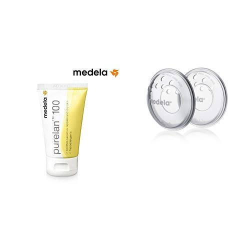 Purelan 100 Medela - Crema de lanonina 100% natural para pezones sensibles, secos o agrietados 37 gr