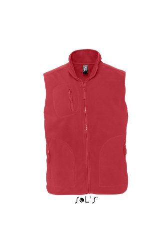 Sol S – Gilet in pile NORWAY Rosso