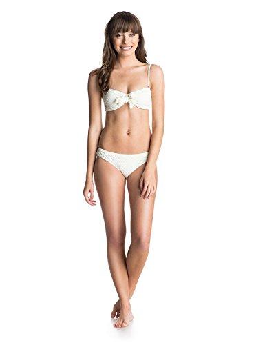 Roxy Bandeau & Cheeky Scooter Set - Bandeau Top & Cheeky Scooter Bikini Bottoms Set - Frauen (Sand-dollar-bikini)