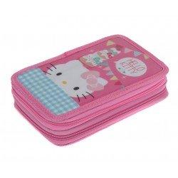 Hallo Kitty Tea Party Doppel Tier Federmäppchen (Party Hello Kitty Tea)