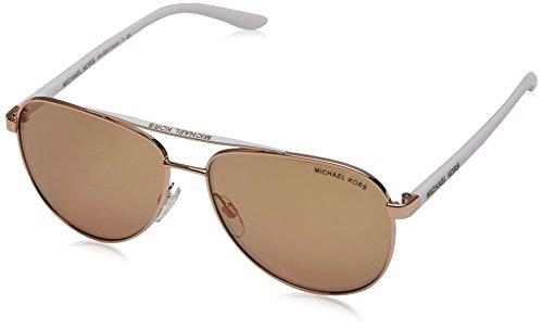 MICHAEL KORS Unisex-Erwachsene Sonnenbrille Hvar, Schwarz (Rose Gold 1080r1), 59