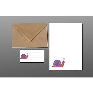 Briefpapier Set / Schnecke