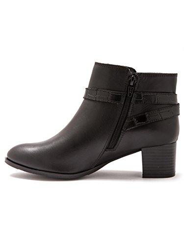 Pediconfort - Boots fermées par glissière Noir