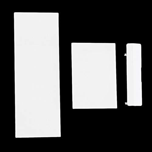 Preisvergleich Produktbild LouiseEvel215 Ersatz-Speicherkartenfach-Steckplatzabdeckung Deckel Memeory-Kartenabdeckung 3 Teile Türabdeckungen für Nintendo für Wii Console Black