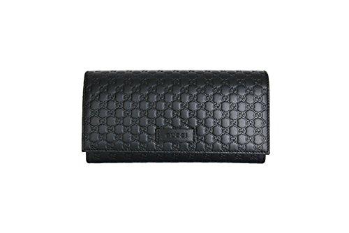 9f41cadfbc58 Gucci Women's Signature GG Micro Guccissima Continental Flap Leather Wallet  ...