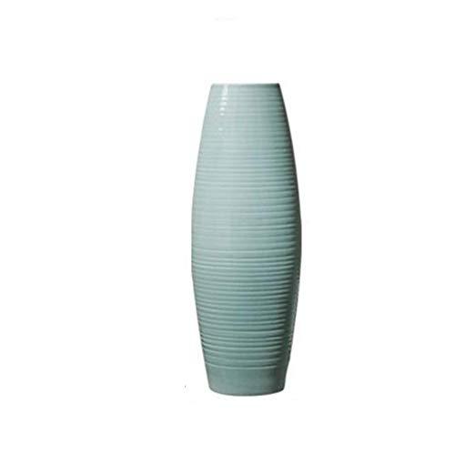 DX Keramikvase Bodenvase Wohnzimmer Dekoration Blau/Höhe 60cm