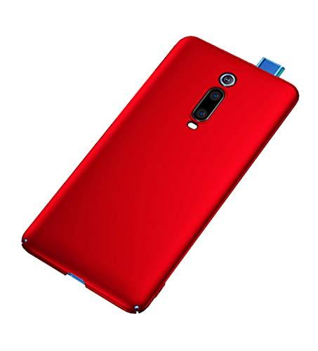 """XunEda Xiaomi Mi 9T,Xiaomi Mi 9T PRO 6.39"""" Cover Custodia, Antiscivolo Custodia in PC Rigida Protettiva Cover + Pellicole Protettive Case per Xiaomi Mi 9T,Xiaomi Mi 9T PRO Smartphone(Rosso)"""