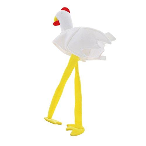 Huhn Mütze Hühnermütze Truthahn Mütze Tierhut Karnevalshut Faschingshut Halloween Kostüm für Damen Herren (Die Meisten Realistischen Halloween Kostüme)
