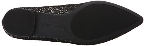 Nine West Oleena Femmes Synthétique Chaussure Plate Brz-Blk Sy