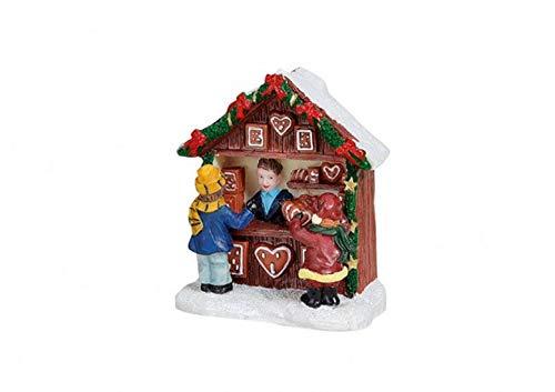 Belladecora Miniatur Pfefferkuchen-Stand aus Poly, B7 x T3 x H7 cm -