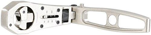 AGT Ratsche: Ratschenschlüssel mit verstellbarem Durchmesser von 8-25 mm (Ratschenset)