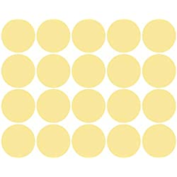 Fhuuly - Adhesivo decorativo para pared, diseño de lunares, color dorado, papel, dorado, 25x5cm