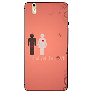 Snazzy Love Printed Red Hard Back Cover For InFocus M810