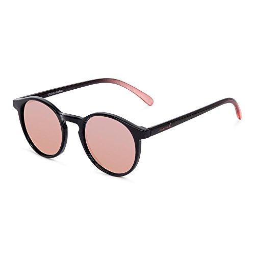 279e4c1b5f CORAL Sunglasses unisex - PACIFICA - Shiny black temple and rose gold  polarized lenses.