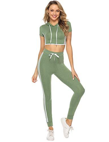 Abollria Leggings Donna Sportivi Pantaloni attillati per Yoga Allenamento Palestra Pantaloni Elastici Casual