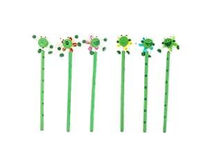 Crayon avec tambour de dessin animé pour enfants 6pcs/pack (Vert)