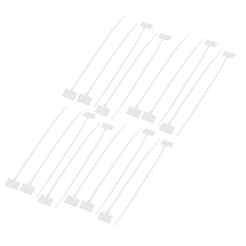 sourcingmap® 20 pcs Câble réseau fil nylon Cordon étiquette ID étiquettes Attaches Zip 4 x 200mm