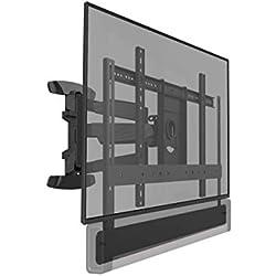 Cavus WMEPBF Support Mural pour TV Sonos Playbar - Full Motion VESA Support Mural pour Barre de Son et TV 37 à 65 Pouces