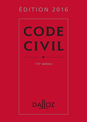 Code civil 2016 - Edition 115