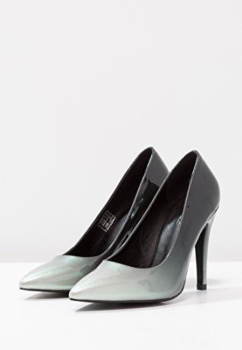 Anna Field Lack Pumps - High Heels Schwarz o. Rot - Damen Schuhe mit 9,5 cm Absatz - Abendschuhe elegant mit Metallic Look Schwarz
