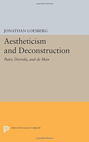 Aestheticism and Deconstruction: Pater, Derrida, and de Man (Princeton Legacy Library)