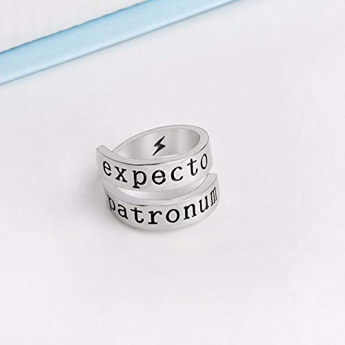 Yellow Chimes Harry Potter Spell Expecto Patronum Twisted Ring for Girls and Boys