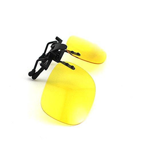 UV400 Soins de la vue polarisation Lunettes Objectif Clip-on Lunettes de soleil flip-up Yellow