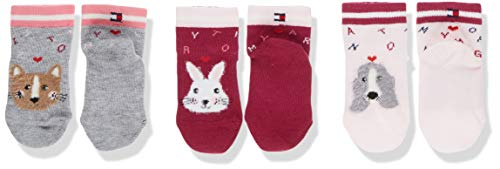 Tommy Hilfiger Th Sock 3p Giftbox Baby Chaussettes, Multicolore (Pink Combo 174), 15-18 (Taille...