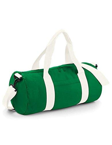 Bag Base - Sac de voyage en toile 20 L - BG140 - VARSITY BARREL BAG - Coloris vert kelly