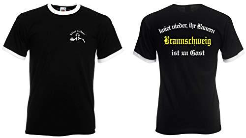 world-of-shirt / Braunschweig Herren Retro kniet nieder Ihr Bauern