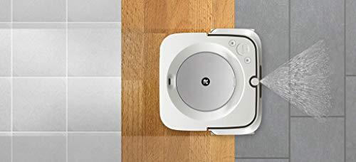iRobot Braava m6 (6134) m613440, Robot lavapavimenti WiFi, Precision Jet Spray, Navigazione Intelligente, Mappa la casa, Lavaggio ad Acqua e a Secco, Si Ricarica automaticamente, Controllabile con App
