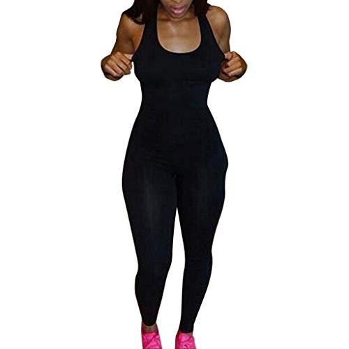757b88c3ccf Daylin Newest Fitness Popular Soft Women Slim Yoga Sport Jumpsuit Long  Bodysuit Tracksuit Pants Black