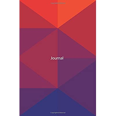 Journal: Pretty Minimal Design Journal | 120-Page College-Ruled Minimal Pattern Notebook | 6 X 9 Perfect Bound Paperback