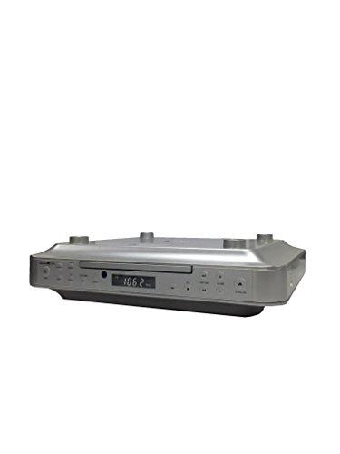 Reflexion CLR-2910 Unterbauradio Küche mit CD-Player, USB und Küchen-Timer (PLL UKW-Tuner, MP3, AUX, Fernbedienung, Montage-Kit), silber -