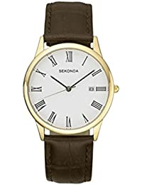 Sekonda Mens Brown Strap Watch 3676
