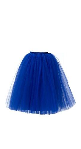 Honeystore Damen's Lang Ballet Petticoat Abschlussball Party Zubehör Tutu Unterkleid Rock Dunkelblau (Diy Kostüme Essen)