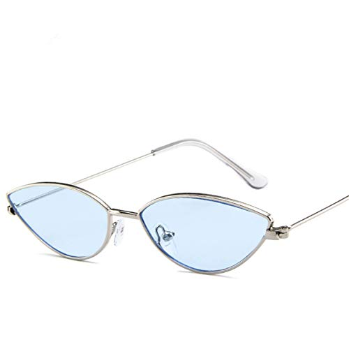 Sport-Sonnenbrillen, Vintage Sonnenbrillen, Cute Sexy Ladies Cat Eye Sunglasses Women Metal Frame NEW Fashion Vintage Gradient Sun Glasses For Female UV400 Shades Blue