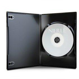 Amaray DVD Hüllen, Slim 7 mm, Maschinen-pack-Qualität, Schwarz, 100 Stück
