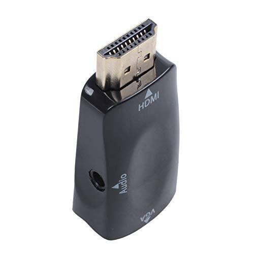 Vaorwne Adaptador Conversor HDMI VGA Dorado Cable