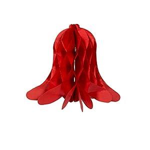 Folat 60480 - Campanas Decorativas (2 Unidades), diseño de Panal, Color Rojo