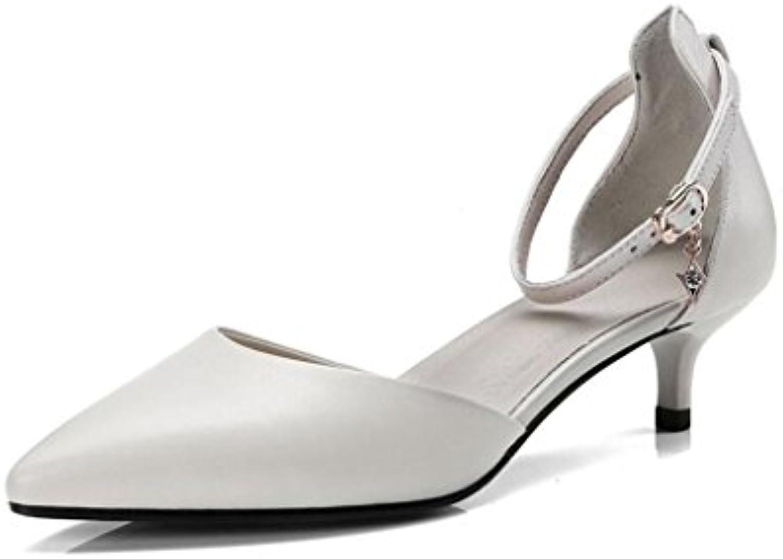 XUERUI Sra. Tacones Stilettos Sandalias Trabajando Hermoso Young De Moda Constante Cómodo Tacón De 4 Cm Zapatos...