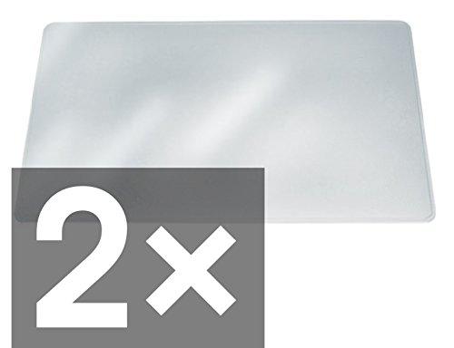 Durable Schreibunterlage transparent blendfrei (2er Pack/650 x 500mm)