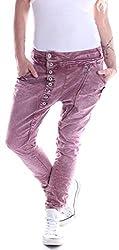 Mozzaar Damen Boyfriend Jeans Baggy Haremshose Harem Stretch Rot Knopfleiste Übergröße Oversize over size Gr Größe Größen Größe L 40 XL 42 XXL 44 XXXL 46 XXXXL 48 2XL 3XL 4XL Denim Stretch Dehnbar