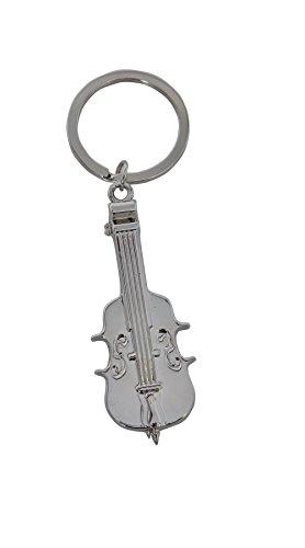 GEWA Unisex-Anhänger Schlüsselanhänger, Motiv: Violine Edelstahl - 978930