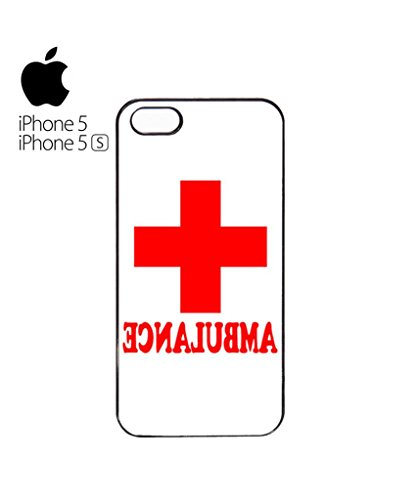 Ambulance Funny Red Cross Mobile Cell Phone Case Cover iPhone 5c Black Blanc