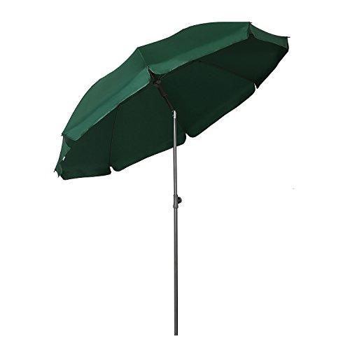 Sekey - ombrellone parasole, 200 cm, protezione solare uv25+, colore: verde