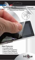 """i-nique Topcoat """"Full Face"""" Enhanced Crystal Clear Screen Protector Kit For iPhone"""