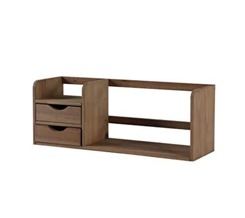 ZMSJ-YJ Desktop Bookshelf Massivholz Tischregal Schlafsaal Einfache Bookshelf Student Bookshelf Größe: 59 * 18 * 22cm (Farbe : A)