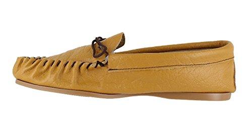 En cuir pour homme main Casual Moccs Chaussettes-Chaussons Chaussures brun clair Tailles :  6, 7, 8, 9, 10 11 12 13 peau