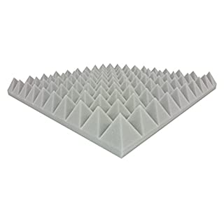 Composite Foam Approx. 48.5 CM x 48.5 CM x 6 CM Light Grey Acoustic Foam Pyramids Acoustic Foam acoustic insulation